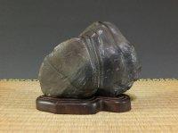 Suiseki / Setagawa-ishi (with one pedestal)