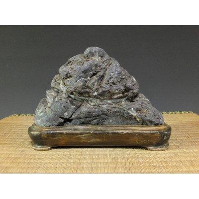 Photo1: Suiseki / Abegawa-ishi (with one pedestal)