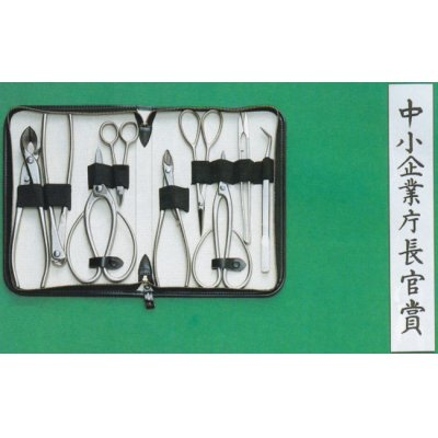 Photo1: Bonsai tool 9-pieces set (MASAKUNI)