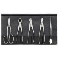 Bonsai tool 5-pieces set / Stainless steel (KIKUWA)