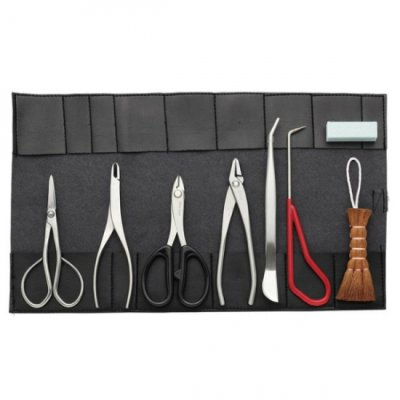 Photo1: Small bonsai tool 8-pieces set / Stainless steel (KIKUWA)