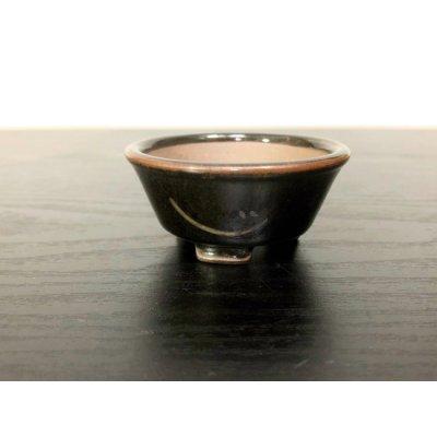 "Photo2: Satsuma Ware ""Black Satsuma"" / Golden Ji ""Kin no Ji"" / Chin Jukan Bonsai Pot"