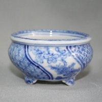 "Kutani Ware Round Pot ""Eisho"" Sometsuke Sho-Chiku-Bai pattern / D67mm [A9502]"