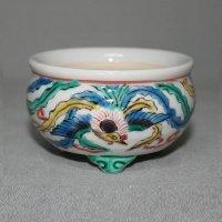 """Kutani Ware Round Pot """"Eisho"""" Phoenix pattern / D67mm"""